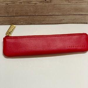 Fendi Small L'ACQUA ROSSA slim zip pouch.